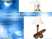 Wooden Lamp Online Shopping in India - Foslighting