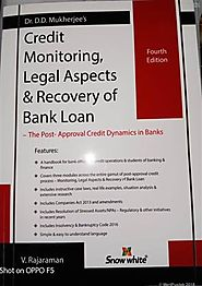 Credit Monitoring, Legal Aspects & Recovery Of Bank Loan 2018, Dr. D.D. Mukherjee, 9789350393161