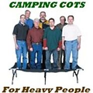 XL Oversized Camping Cots For Heavy People