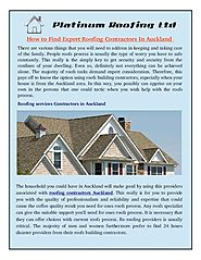 How to Find Expert Roofing Contractors in Auckland