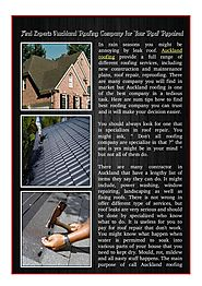 Find Experts Auckland Roofing Company for Your Roof Repaired