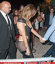 Jennifer Lopez Shows Off her Perfect Cleavage and Buttocks in Sexy Sheer Dress, Stuns Kim Kardashian