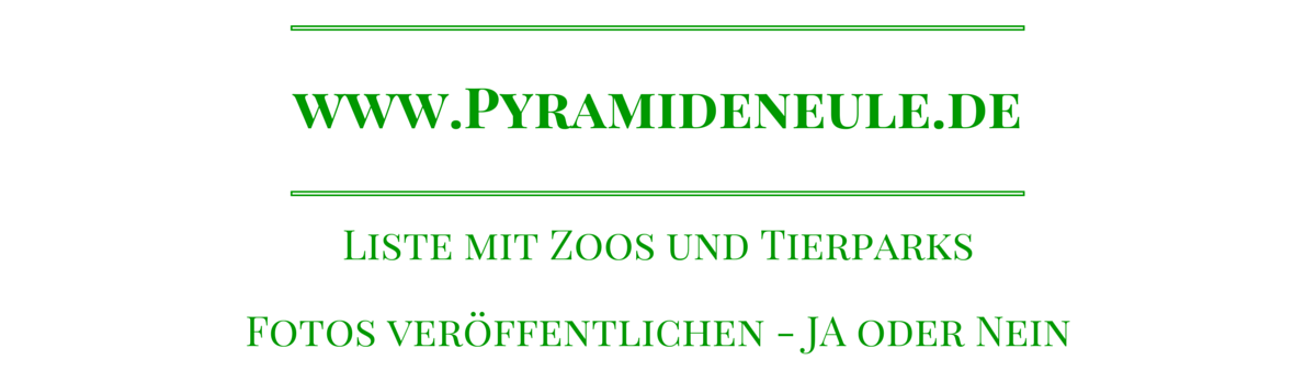 Headline for Zoo und Tierpark - Foto-Recht