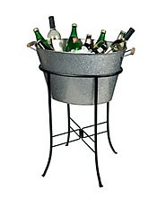 Drink Party Cooler Tub with Stand