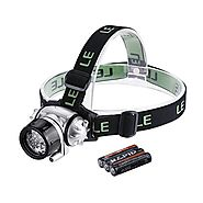 Lighting Ever Led Headlamp, 18 White Led And 2 Red Led, 4 Brightness Level Choice, Led Headlamps, 3 Aaa Batteries Inc...
