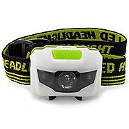 LED Headlamp - Great for Camping, Hiking, Running, Biking, Kids, Fishing, Hunting. One of the Brightest, Lightest (2....