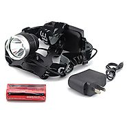Generic Outdoor Waterproof 1600LM XM-L T6 LED Headlamp + 2 X 18650 Rechargeable Batteries + Charger