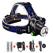 Zoomable 3 Modes 1800 Lumens CREE XML T6 Led Headlamp /Headlight ; 3-in-1 | Multi-Function Capability - Outdoor/Indoo...