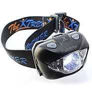 PathBrite™ LED Headlamp Flashlight - Best for Camping, Hunting, Running or DIY Works. White/Red Lighting Mode, Emerge...
