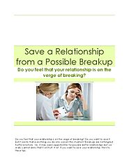 Save a Relationship from a Possible Breakup - PdfSR.com