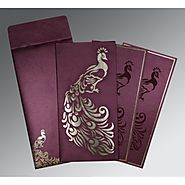 Peacock Theme Indian Wedding Invitations - 123WeddingCards