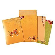 Floral Indian Wedding Cards | IN-1642 | 123WeddingCards