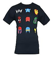 Marvel Comics T-Shirt - Helmets & Masks