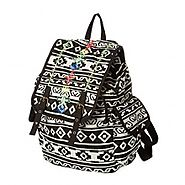 Black and White Aztec Backpack - Backpacks n BagsBackpacks n Bags