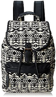 Madden Girl Benji Backpack, Black/White Aztec - Backpacks n BagsBackpacks n Bags