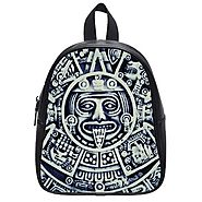 Custom Aztec Print Black or White Student's School Bag (Large) Backpack Children Shoulder Bag W-LG244 - Backpacks n B...