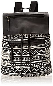 Madden Girl Bposter Backpack Handbag, Black/White Aztec, One Size - Backpacks n BagsBackpacks n Bags