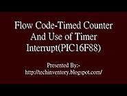 Timed Counter And Use of Timer Interrupt Flow Code Programming And Simulation