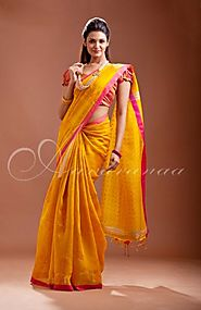 Buy Matka Silk Saree Online at Best Price - Aavaranaa