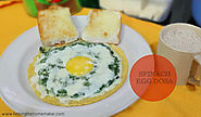 A Healthy Breakfast - for kids and adults alike - Delicious Palak(Spinach) Egg Dosa!