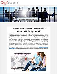 Modern Offshore Software Development with Foreign Trade