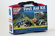 Ultra-Light & Small 100 Piece First Aid Kit w/ Unique Items, Durable Nylon Case - Ideal for the Car, Kitchen, School,...