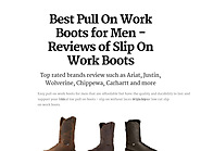 Best Pull On Work Boots for Men - Reviews of Slip On Work Boots