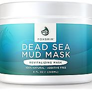 Foxbrim Dead Sea Mud Mask - Revitalizing Facial Mask, 240mL/8oz.