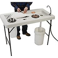 Portable Camp Fish Cleaning Table with Faucet - Deluxe