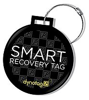 Dynotag® Web/GPS Enabled QR Smart Deluxe Steel Luggage Tag & Braided Steel Loop