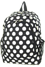 Black and White Polka Dot Backpack - Children's and Teens' School Backpack - Backpacks n BagsBackpacks n Bags