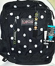Black and White Polka Dot Backpack - JanSport Megahertz Backpack - Backpacks n BagsBackpacks n Bags