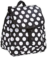 Black and White Polka Dot Backpack - World Traveler Black White Polka Dots - Backpacks n BagsBackpacks n Bags