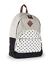 Black and White Polka Dot Backpack - Aeropostale Polka Dot Backpack Tan - Backpacks n BagsBackpacks n Bags