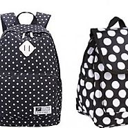 Cute Black and White Polka Dot Backpack for School