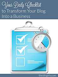 Free Checklist for Growing Your Blog Business | Blogging as a Business