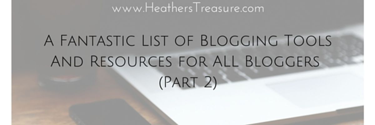 Headline for A Fantastic List Of Blogging Resources (pt.2)