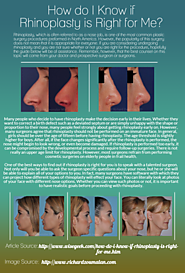 How do I Know if Rhinoplasty is Right for Me?