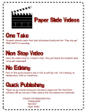 Paper Slide Videos - Guidelines