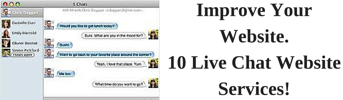 Headline for 10 Live Chat Services to Use on Your Website