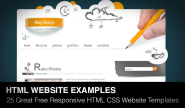 25 Great Free Responsive HTML CSS Website Templates