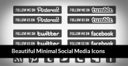 35 Free Black & White Minimal Social Media Icon Sets of 2013