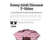 Funny Adult Dinosaur T-Shirts