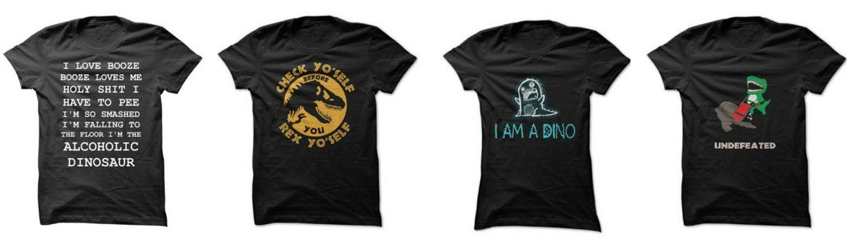 Headline for Funny Dinosaur T-Shirts For Adults