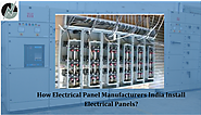 Role of electrical control board panels