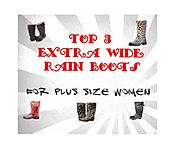 Cute Extra Large Calf Rain Boots For Plus Size Women