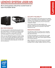 Lenovo System x3500 M5 Tower Server