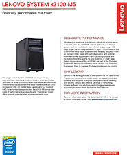 Lenovo System x3100 M5 Tower Server