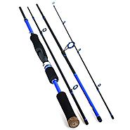 Piscifun Travel Mate Spinning Fishing Rod 93% Carbon Fiber (4-Section, Medium)