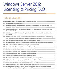 Windows Server 2012 Licensing & Pricing FAQ
